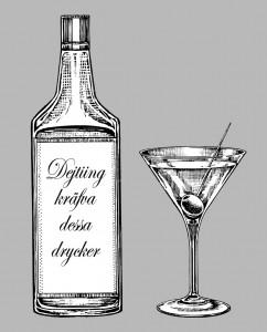 Flaska och drink till dejten på favoritdejtingstället