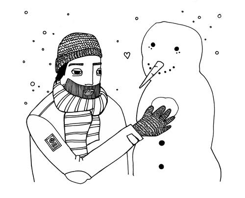 Alla hjärtans snögubbe